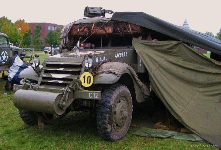 White halftrack, 12th vehicle of Charlie company