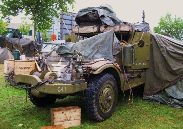 White halftrack, 11th vehicle of Charlie company